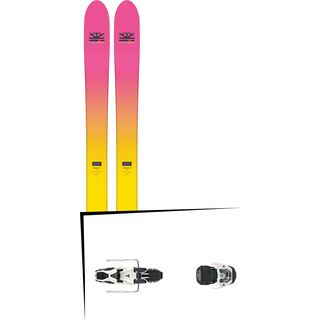 Set: DPS Skis Yvette 112 RP2 Foundation 2018 + Atomic Warden MNC 11 white