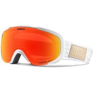 Giro Field, white quilted/Lens: vivid ember - Skibrille