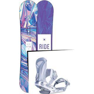 Set: Ride Compact 2017 + Ride DVA 2017, silver - Snowboardset