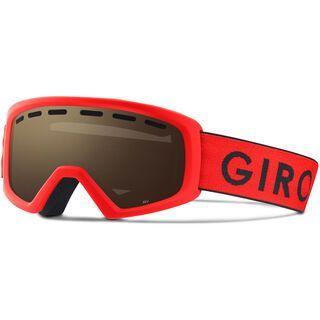 Giro Rev, red/black zoom/Lens: amber rose - Skibrille
