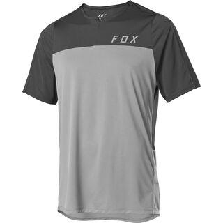 Fox Flexair Zip SS Jersey, pewter - Radtrikot