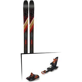 Set: K2 SKI Wayback 80 2019 + Marker Kingpin 13 black/copper