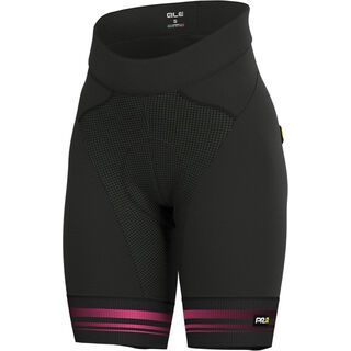 Ale Slide Lady Shorts, black fluo pink - Radhose