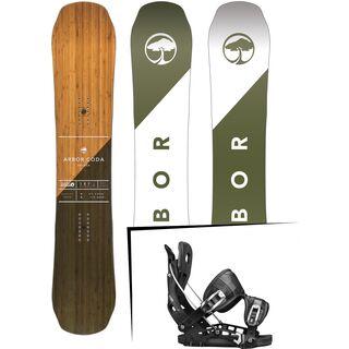 Set: Arbor Coda Rocker 2017 + Flow NX2 2017, black - Snowboardset