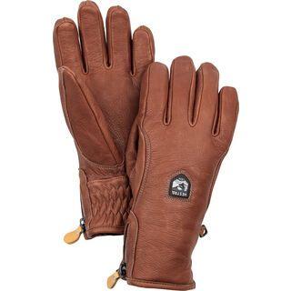 Hestra Furano Swisswool/Leather 5 Finger, braun/braun - Skihandschuhe