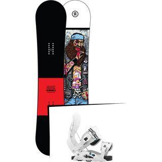 Set: Ride Crook Wide 2017 + Flow Nexus 2016, white - Snowboardset