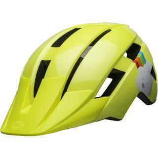 Bell Sidetrack II Toddler, yellow rainbow - Fahrradhelm