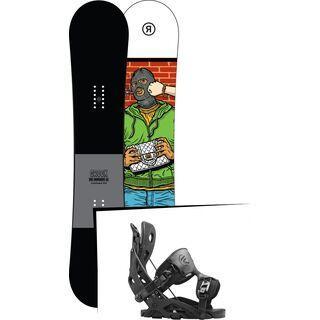 Set: Ride Crook 2017 + Flow Fuse 2016, black - Snowboardset