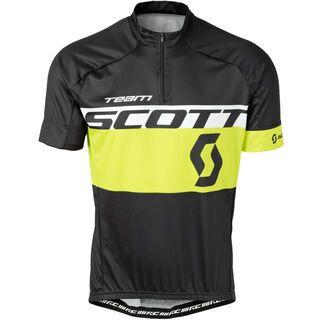 Scott RC Team s/sl Shirt, black/yellow - Radtrikot