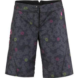 Scott Short Womens Rio Samba, black print - Shorts