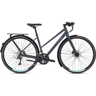 Specialized Women's Sirrus Sport EQ Step-Through - Black Top LTD 2020, cast battleship/turquoise - Fitnessbike