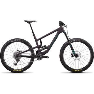 Santa Cruz Nomad CC X01 Coil 2020, eggplant/aquarius green - Mountainbike
