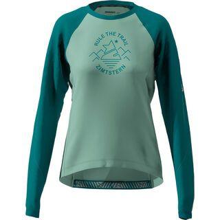 Zimtstern PureFlowz Shirt LS Women's, green/pacific green/blush - Radtrikot