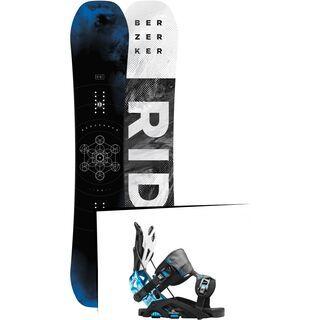 Set: Ride Berzerker 2017 + Flow Fuse-GT 2016, black/blue - Snowboardset