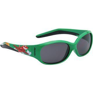 Alpina Flexxy Kids, green plane/Lens: ceramic black - Sportbrille