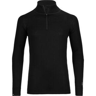Ortovox Merino 185 Long Sleeve Zip Neck, black raven - Unterhemd