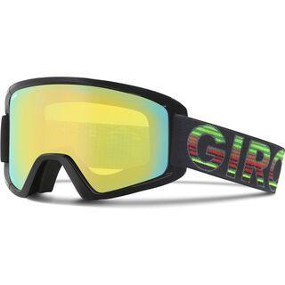 Giro Semi + Spare Lens, black poncho/loden yellow - Skibrille