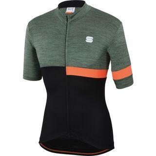 Sportful Giara Jersey, green/black/orange - Radtrikot