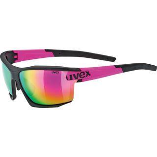 uvex sportstyle 113, black mat pink - Sportbrille