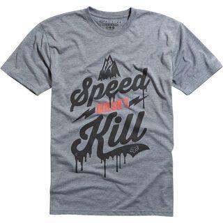 Fox Speed Wobble Tech Tee, heather graphite - Funktionsshirt