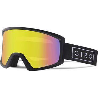 Giro Blok, black bar/Lens: yellow boost - Skibrille