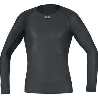 Gore Wear M Gore Windstopper Base Layer Shirt Langarm, black - Unterhemd