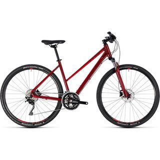 Cube Nature SL Trapeze 2018, darkred´n´red - Fitnessbike