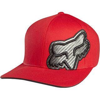 Fox Carbonation Flexfit Hat 2012, Red - Cap