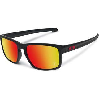 Oakley Sliver Ferrari Collection, matte black/ruby iridium - Sonnenbrille