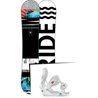 Set: Ride Rapture 2017 + Flow Minx 2015, white - Snowboardset
