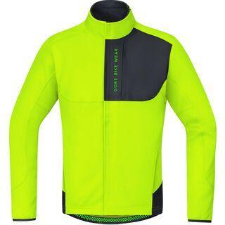 Gore Bike Wear Power Trail Windstopper Soft Shell Thermo Jacke, neon yellow/black