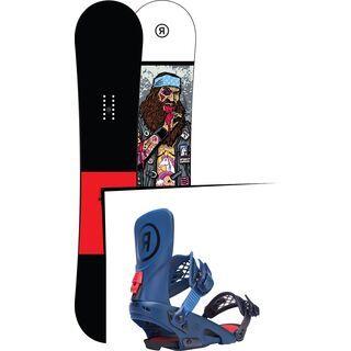 Set: Ride Crook Wide 2017 + Ride LTD, blue - Snowboardset