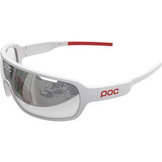 POC DO Blade, white red/Lens: violet/silver mirror - Sportbrille