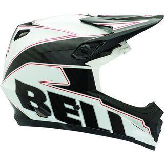 Bell Full-9, white/black carbon emblem - Fahrradhelm