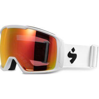 Sweet Protection Clockwork WC MAX RIG Reflect BLI + WS, satin white/Lens: RIG topaz - Skibrille