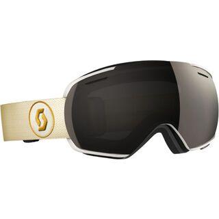 Scott Linx inkl. Wechselscheibe, white beige/Lens: solar black chrome - Skibrille