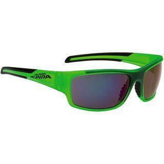 Alpina Testido, green matt-black/blue mirror - Sonnenbrille