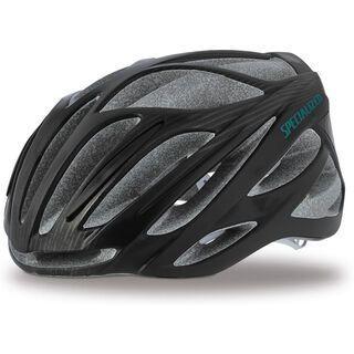 Specialized Women's Aspire, black/turquoise - Fahrradhelm