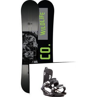 Set: Ride Wild Life Wide 2017 + K2 Cinch CTX 2017, black - Snowboardset