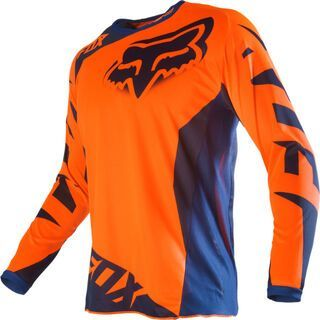Fox 180 Youth Race Jersey, orange blue - Radtrikot