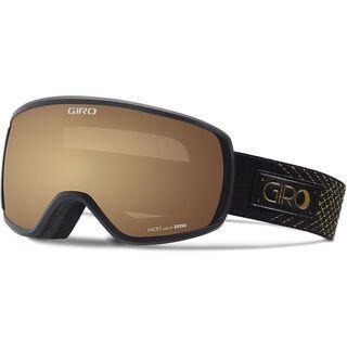 Giro Facet, black gold stellar/Lens: amber gold - Skibrille