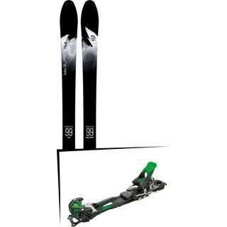 Set: Icelantic Sabre 99 2018 + Tyrolia Adrenalin 16 solid black flash green