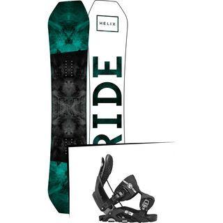 Set: Ride Helix 2017 + Flow Nexus 2017, black - Snowboardset