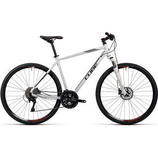 Cube Nature Pro 2016, white black flashred - Fitnessbike
