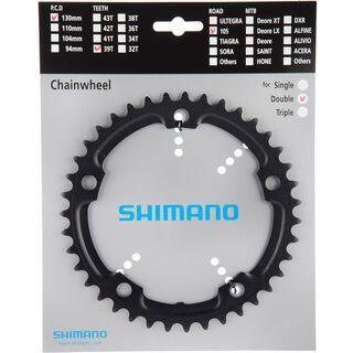Shimano 105 FC-5700 Kettenblätter - 2x10, schwarz