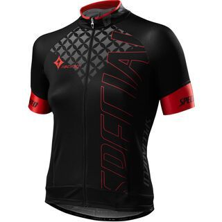 Specialized Womens SL Pro Jersey, black/red team - Radtrikot