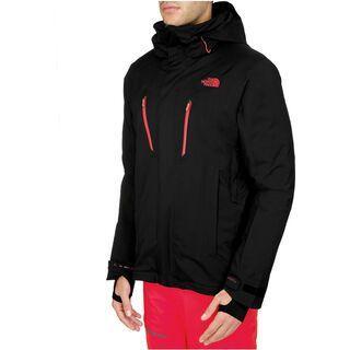 The North Face Mens Jeppeson Jacket, TNF Black/Fiery Red - Skijacke
