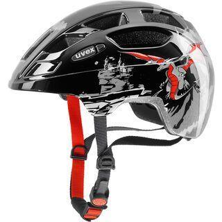uvex finale junior, dragon red black - Fahrradhelm