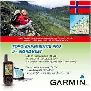 Garmin Topo Norwegen Experience 5 - Nordvest - Karte