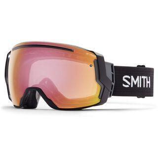 Smith I/O 7 photochromatisch inkl. Wechselscheibe, black/red sensor mirror - Skibrille